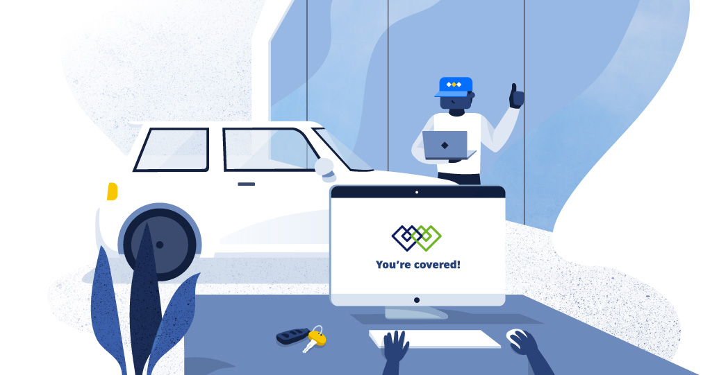 Homepage car warranty illustration